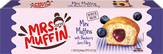 Mini muffins with blueberry