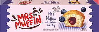 Mini muffins con árandano