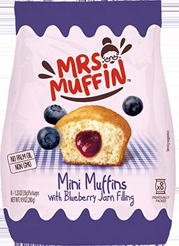 Mini muffins con árandanos