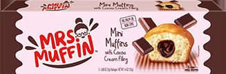 Mini muffins with coca cream