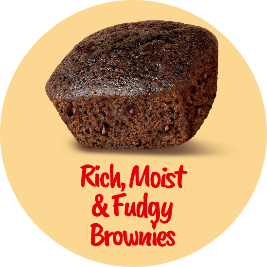 rich moist fudgy & brownies