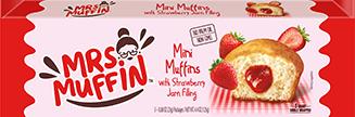 Mini muffins with strawberry