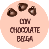 con chocolate belga