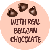 With real belgian chocolat