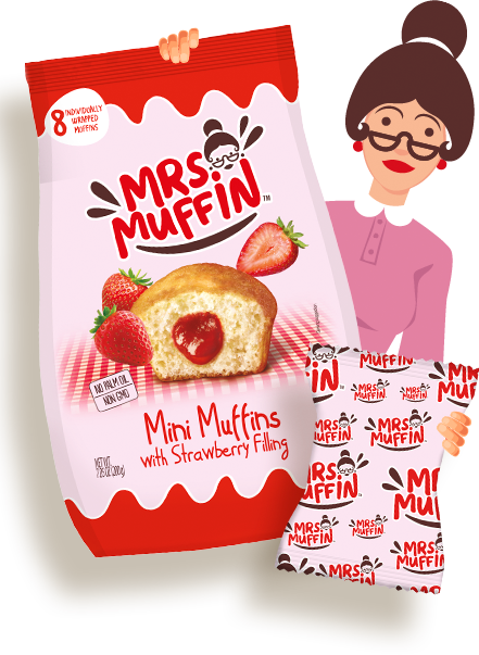 Muffins Fresa
