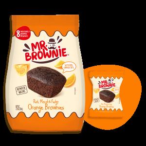brownies de naranja